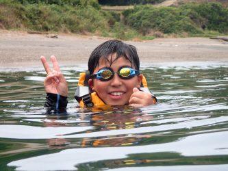 夏休み、家族飛び込む水の音(^-^)