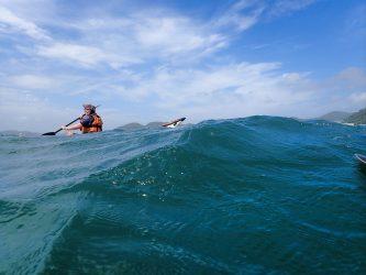 強風の海でも漕いでみたいのよ。